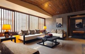 东南亚风情复式楼客厅装修设计图片