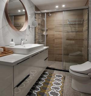 现代简约单身公寓小型卫生间设计效果图