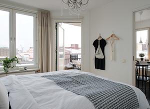 现代自然的大户型室内卧室背景墙装修效果图