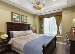 现代美式风100平米家居卧室装修效果图