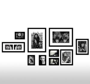 现代都市家庭客厅照片墙装修设计效果图