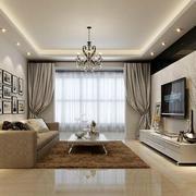 欧式风格客厅电视背景墙装修效果图鉴赏