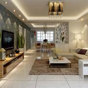 90平米大户型欧式客厅背景墙装修效果图