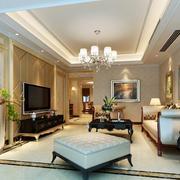 2016欧式风格大户型客厅装修效果图