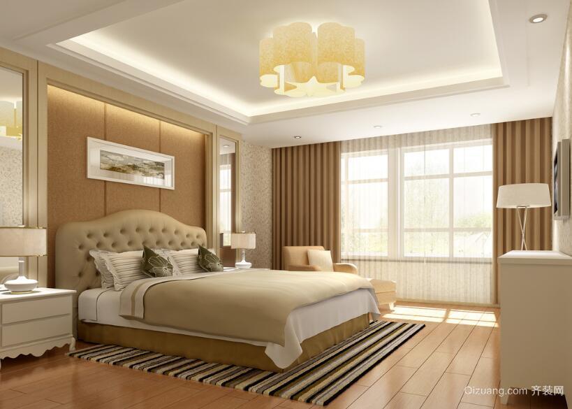 120平米大户型欧式卧室设计装修效果图鉴赏