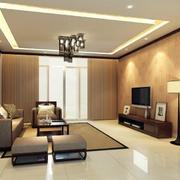 90平米大户型唯美的中式客厅装修效果图