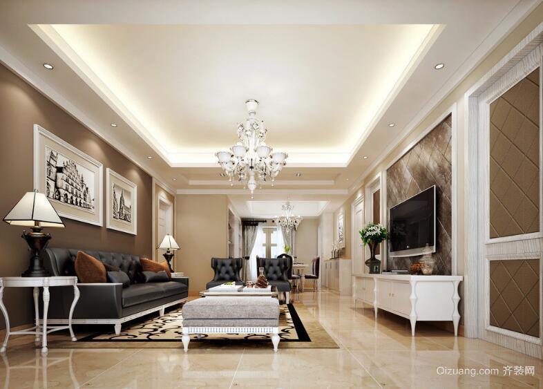 2016别墅型欧式风格室内客厅装修效果图