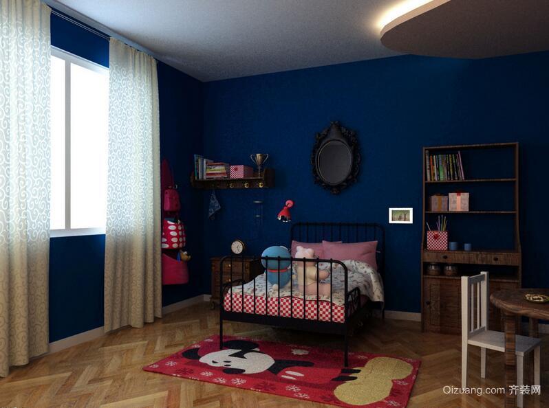 大户型精致的现代儿童房装修效果图实例欣赏