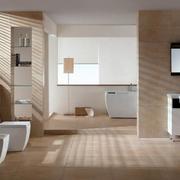 别墅型欧式家庭卫生间装修效果图实例