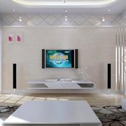2016欧式风格大户型电视墙背景装修效果图