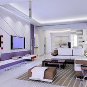 100平米欧式风格客厅吊顶装修效果图