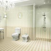 2016欧式风格大户型浴室背景墙装修效果图