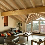 90平米经典阁楼室内装修效果图实例