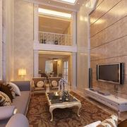 2016欧式风格复式楼客厅装修效果图