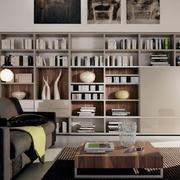 100平米大户型欧式书房书柜装修效果图