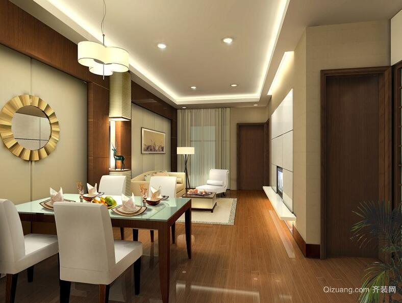 别墅型欧式风格家庭餐厅装修效果图实例
