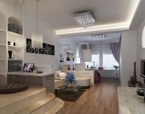 2016欧式风格单身公寓客厅装修效果图