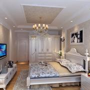 别墅型唯美简欧风格卧室装修效果图