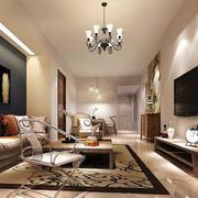 时尚大户型北欧风格客厅装修效果图欣赏