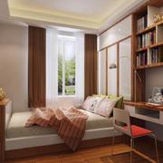 经典的现代三居室卧室榻榻米装修效果图