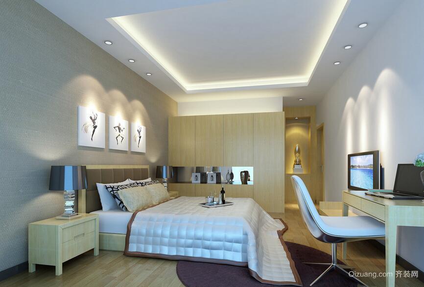 2016欧式风格小户型卧室装修效果图实例