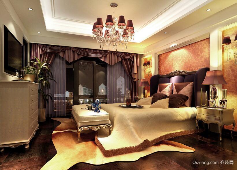 100平米大户型欧式风格卧室吊顶装修效果图