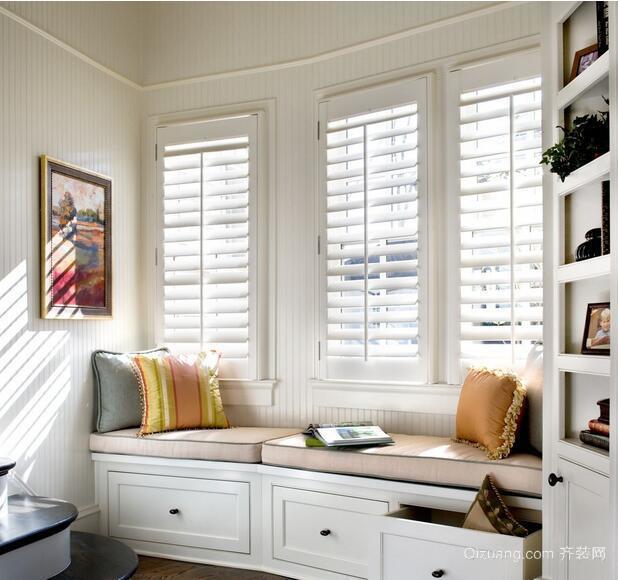 二居室精美欧式风格室内飘窗装修效果图实例