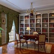 大户型欧式风格书房装修效果图实例欣赏