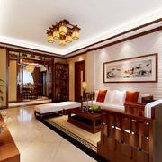 2016别墅型精致的中式客厅装修效果图
