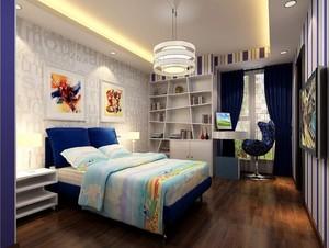 现代都市别墅型儿童房室内装修效果图