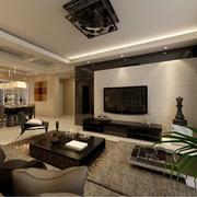 100平米大户型现代简约客厅装修效果图