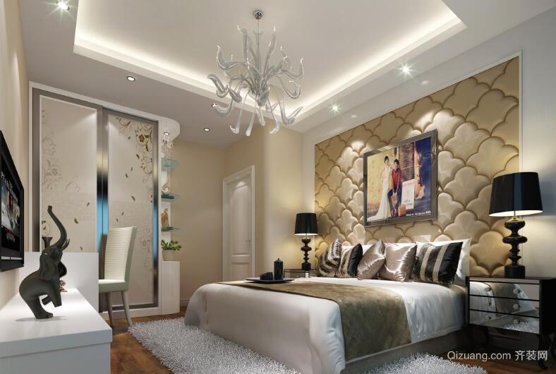 欧式风格卧室软包背景墙装修效果图鉴赏