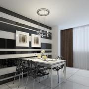 70平米欧式风格小户型餐厅装修效果图实例