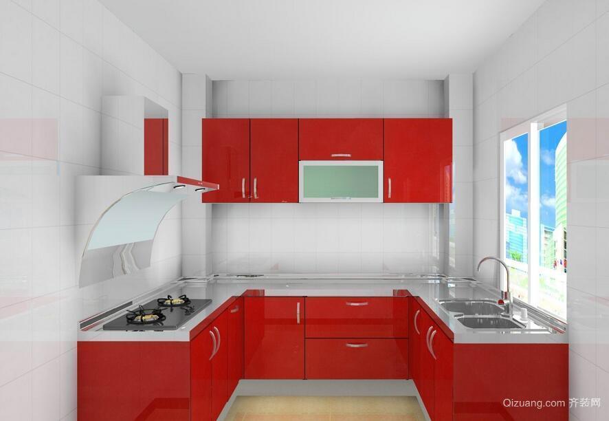 现代欧式风格厨房不锈钢橱柜装修效果图