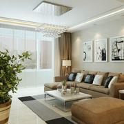 2016欧式风格别墅型房子客厅装修效果图