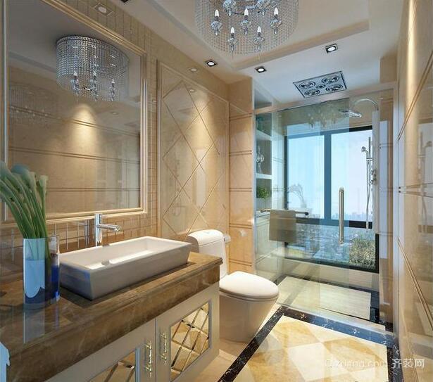 欧式小户型马可波罗瓷砖卫生间装修效果图