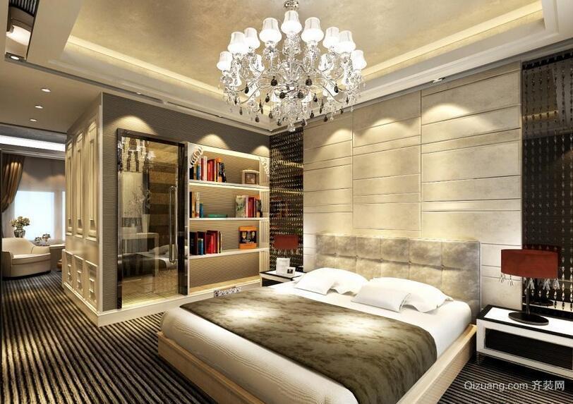 现代室内大户型石膏板吊顶装修效果图实例
