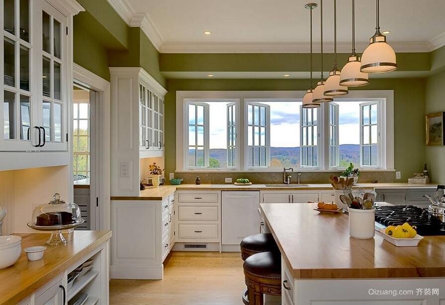 欧式风格开放式厨房装修效果图实例鉴赏