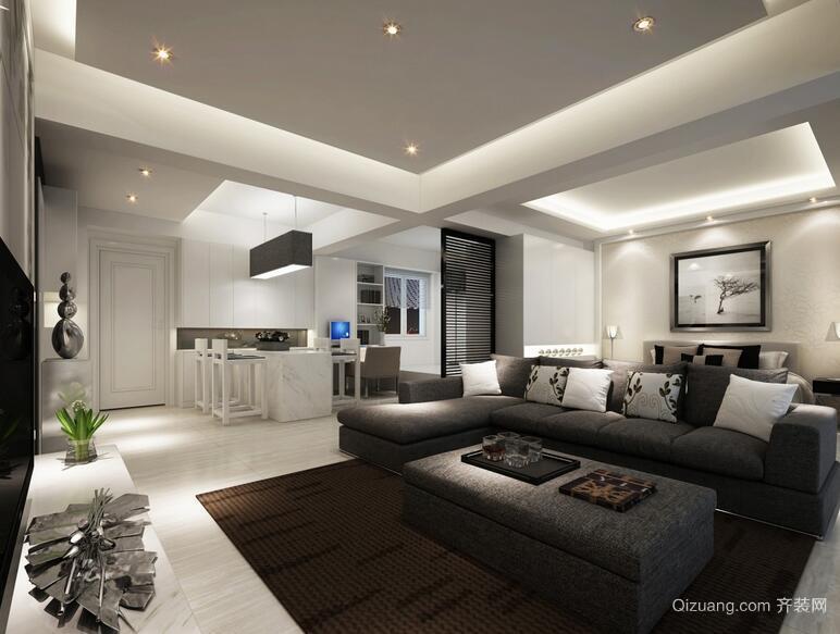 2016大户型欧式风格客厅装修效果图实例