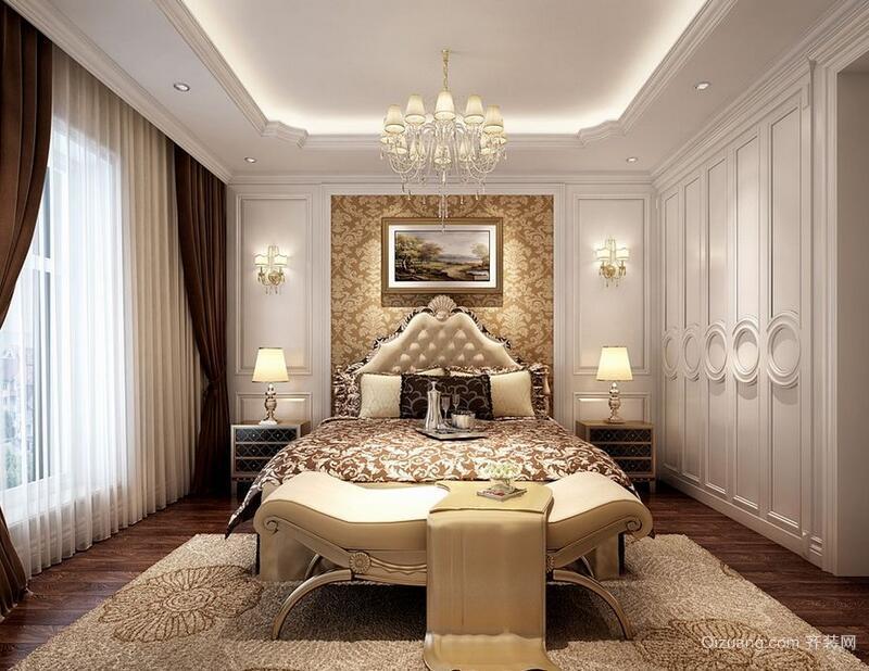 2016别墅型简欧风格卧室装修效果图
