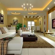 欧式风格三居室客厅装修效果图欣赏