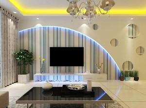 90平米大户型欧式风格电视背景墙装修图片