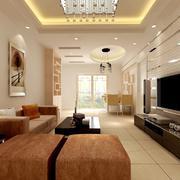 100平米欧式客厅背景墙装修效果图实例
