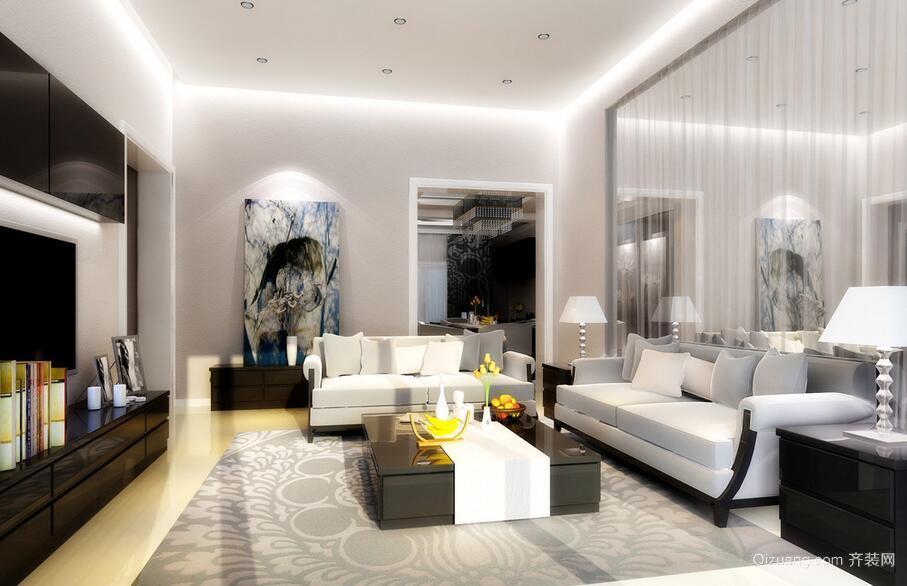 别墅型精致简欧风格客厅装修效果图鉴赏