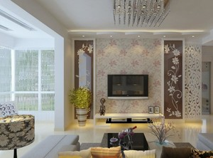 三居室欧式电视背景墙装修效果图实例