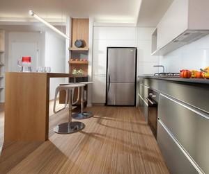 欧式风格别墅型不锈钢橱柜装修效果图鉴赏