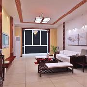 唯美精致大户型中式风格房子装修效果图