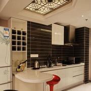 温馨唯美的欧式风格室内吧台装修效果图