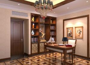 别墅型欧式风格书房装修效果图实例欣赏