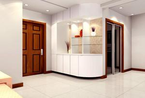 别墅型北欧风格客厅玄关装修效果图鉴赏